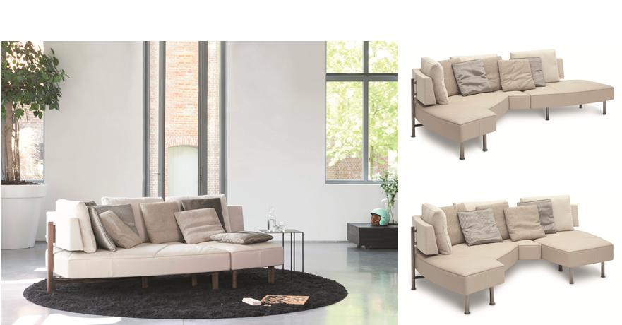 Lounge-Sofa Wing 3-fach verwandelbar